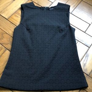 Theory Black Textured Top